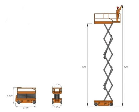 32ft Scissor Lift - Flight Pattern