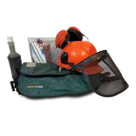 Chainsaw Safety Pack Chaps and Helmet