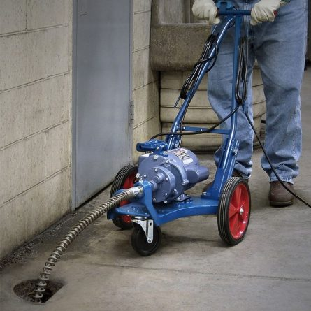 Electric Drain Cleaner in Use