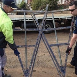 Picking up a Brickies Trestle
