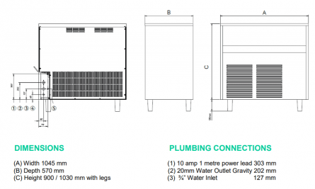 125kg Ice Makers - Medium