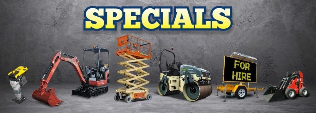 Master Hire Equipment Specials