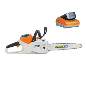 Master Hire battery powered chainsaw