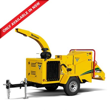 """Trailer mounted 12"""" wood chipper"""