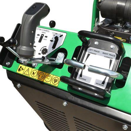 Large Tracked Stump Grinder Controls