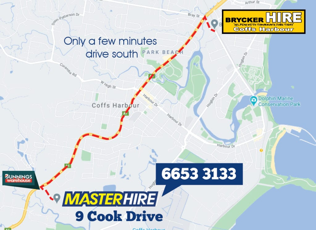 Master Hire Coffs Harbour and Brycker Hire Join Forces