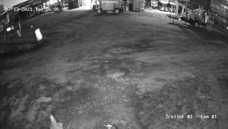 Trailer Mounted CCTV Camera Sample Night Time Footage