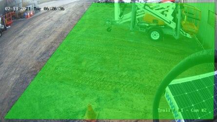 Trailer Mounted CCTV Camera Detection Zones
